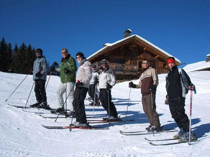 The Unthank Ski Club enjoying an outing!